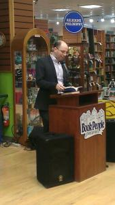 Me reading at BookPeople